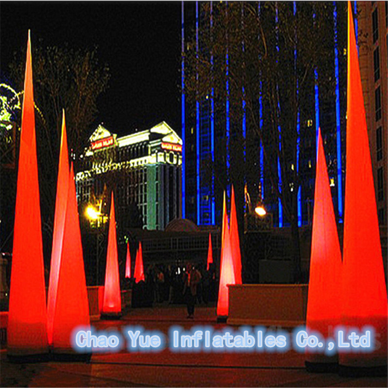 China Hot Led Light Inflatable Columns Balloon For Advertising