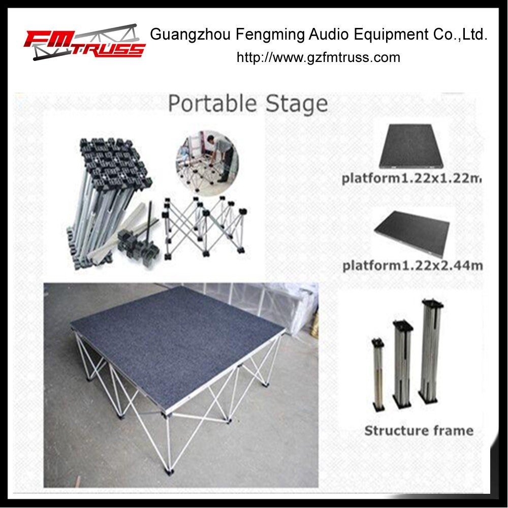 China Supplier Manufacture Aluminum Alloy Portable Stage for LED Light Performance pictures & photos