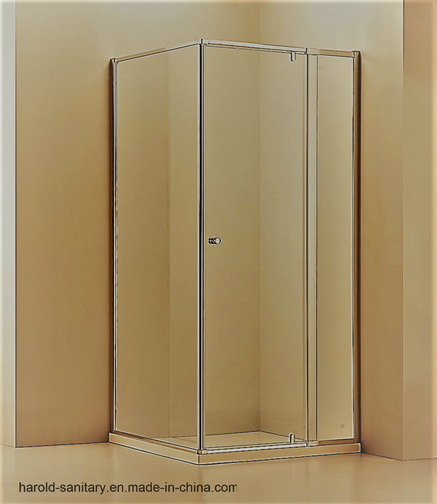 China Extended Length Pivot Hinge 6mm Glass Semi Framed Shower Door Enclosure Screen