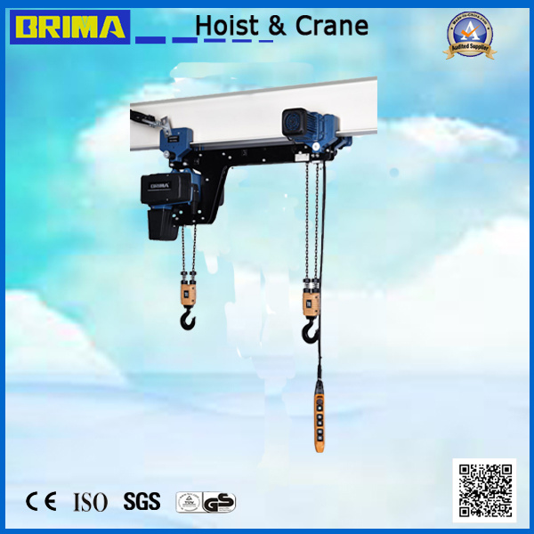 0.5t Brima BMS European Type High Quality Electric Chain Hoist with Trolley