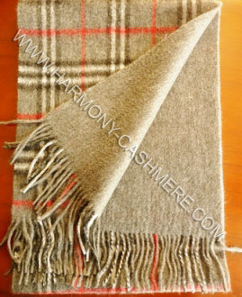 100% Cashmere Double Faced Scarf