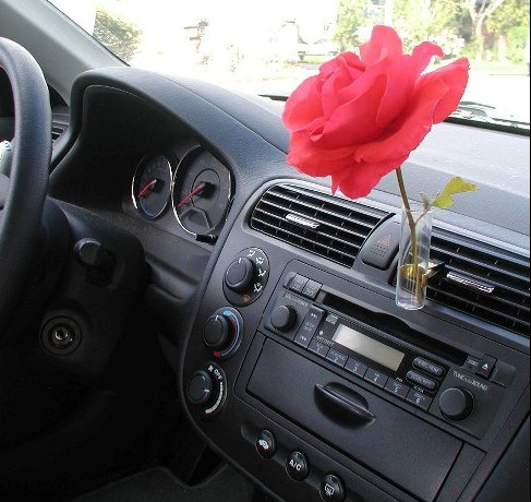 China Car Air Freshener With Decorative Flower In Glass Vase Ts
