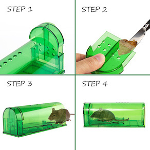 China Oem Brand Catcha Mouse 2pack 4pack Humane Smart Mouse Trap Live Catch And Release Rodents Safe Around Children And Pets No Kill Plastic Mouse Trap China Humane Smart Mouse Trap
