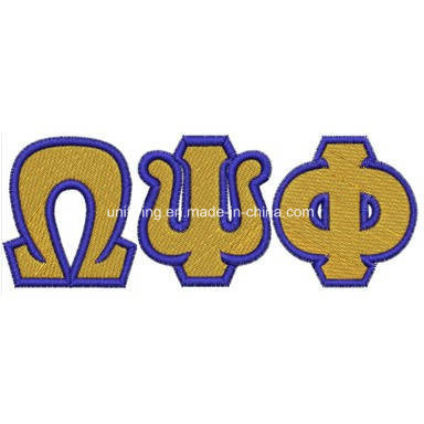 china iron on greek letters patch omega psi phi chapter embroidery