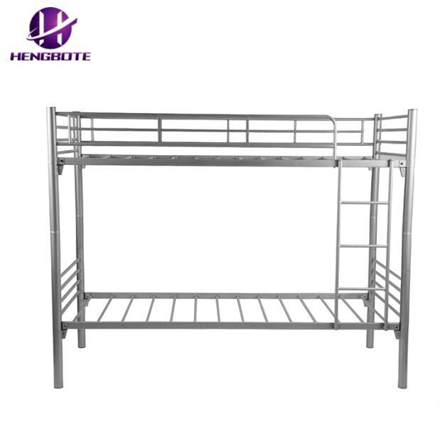 China Adult Heavy Duty Bedroom Furniture Army Kids Triple Metal Bunk Bed China Metal Bunk Bed With Ladders Steel Dormitory Equipment Metal Frame Metal Bed