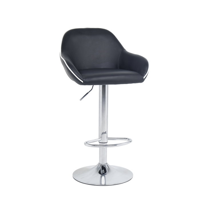 China High Back Swivel Bar Stool Chair With Footrest And Pu