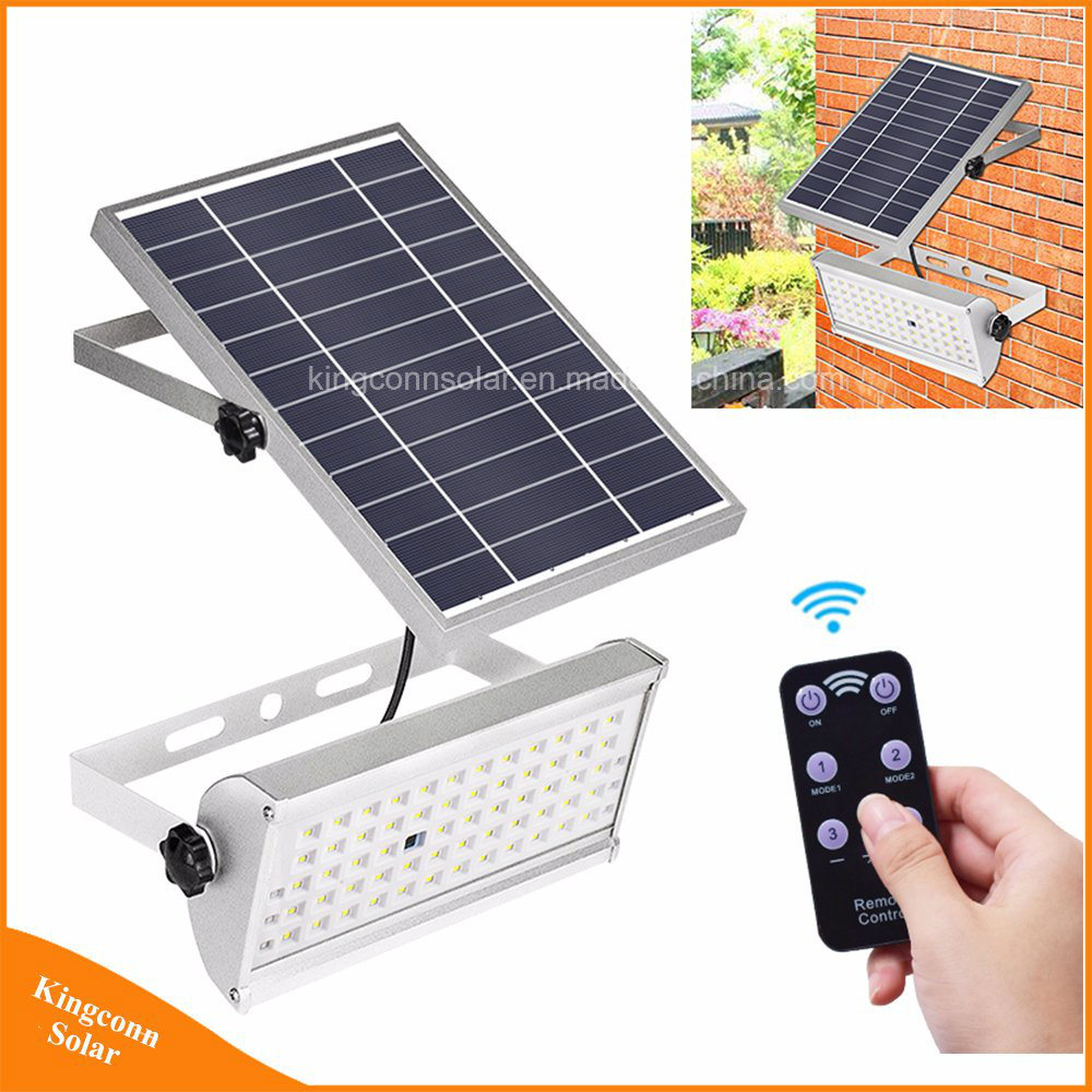 China 1500lm Solar Flood Lights Outdoor Garden 65led Light With Remote Control Motion Sensor