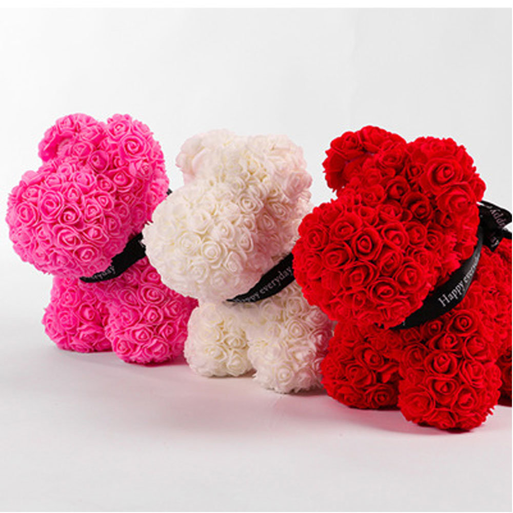 Artificial Flower Rose Dog