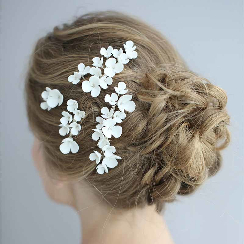 Bride Hair Comb Pearl Beads Handmade Headwear Wedding Headdress Pins Ornaments