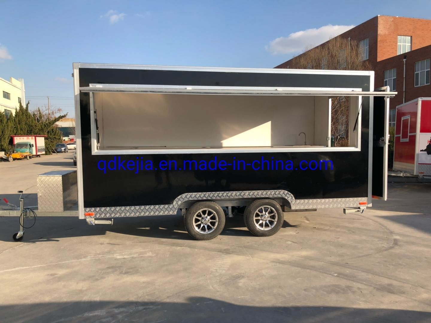 China 2020 Hot Sale Ice Cream Vending Cart Mobile Kitchen Food Truck Fast Food Trailer For Sale China Food Trailer Food Truck