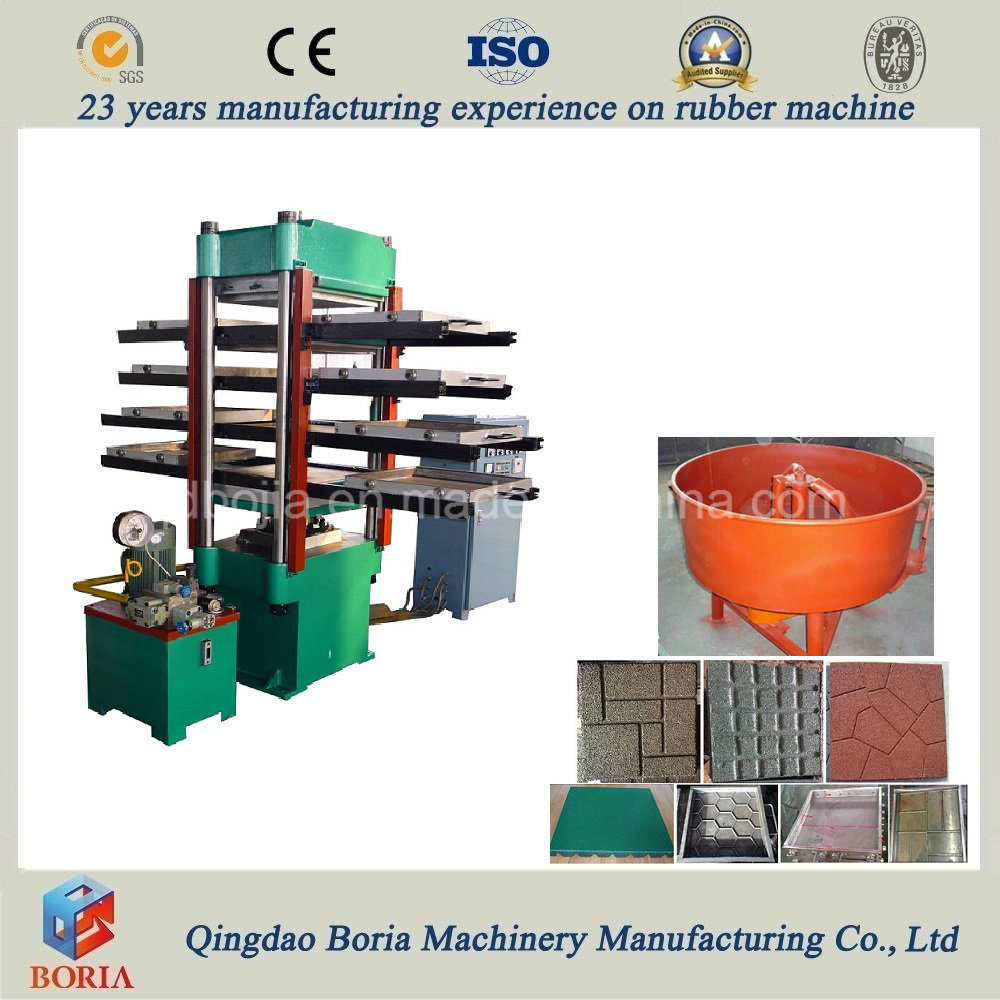China Rubber Floor Tile Vulcanization Rubber Tiles Making Machine