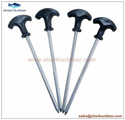 China Screw Steel Tent Pegs with Black Plastic Head Galvanized Tent Accessories - China Tent Peg Tent Stake  sc 1 st  Made-in-China.com & China Screw Steel Tent Pegs with Black Plastic Head Galvanized ...