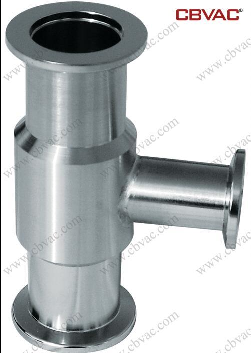 Stainless Steel Reducing Tee Flange Kf Vacuum Component