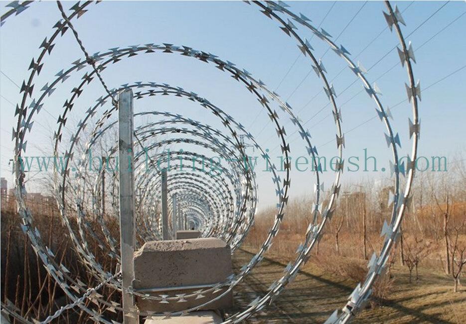 China Galvanized Razor Wire/Concertina Wire/Razor Barbed Wire Photos ...