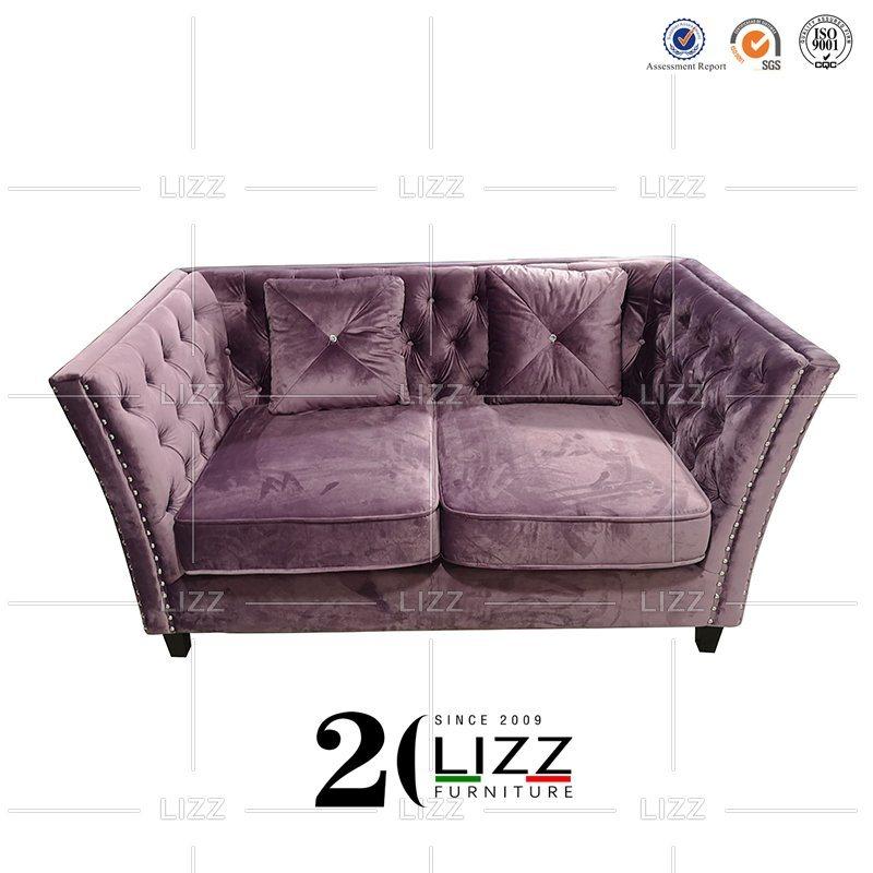 Soft Leisure Chesterfield Fabric Sofa