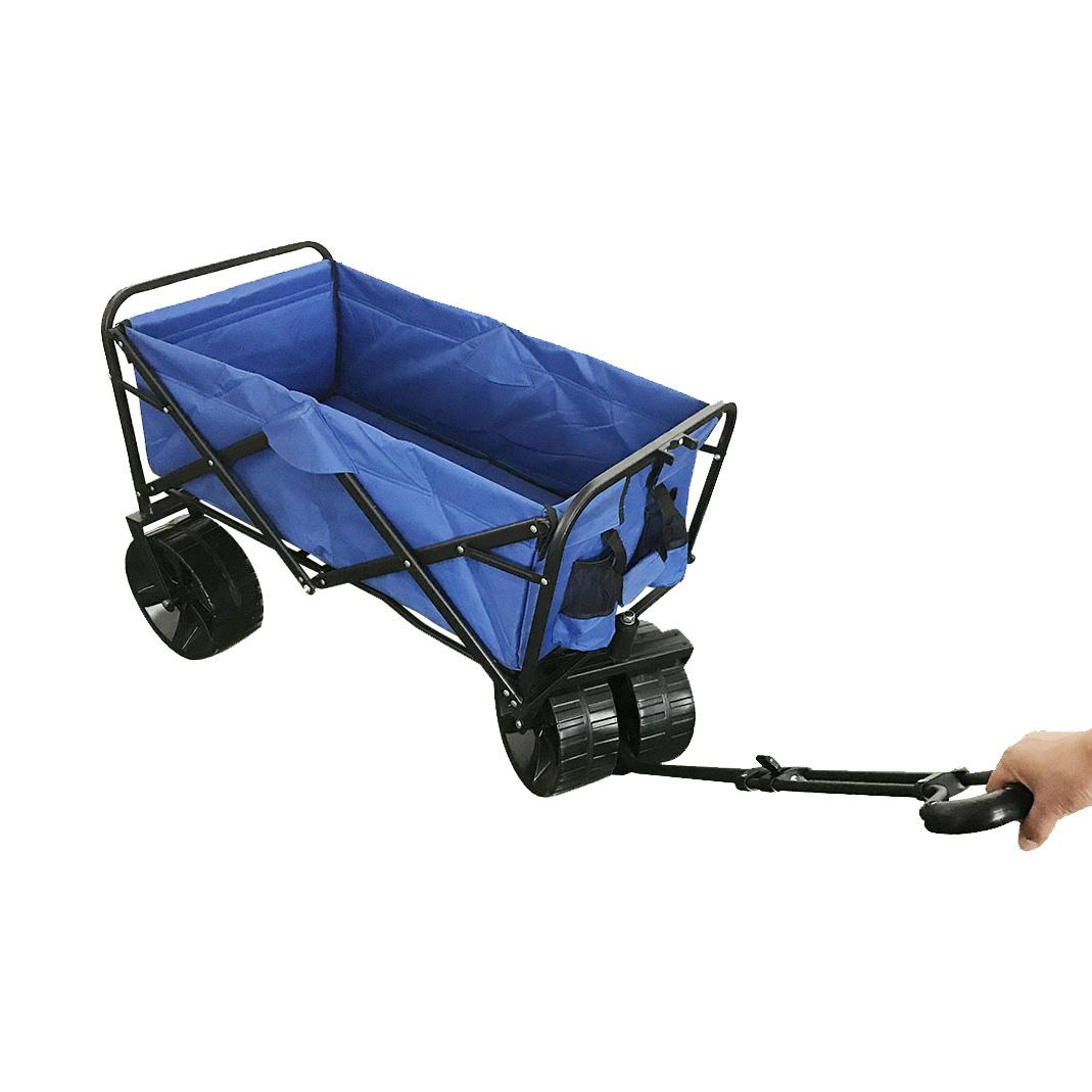 China Big Wheel Beach Folding Wagon With Cloth China Beach Cart Beach Trolley