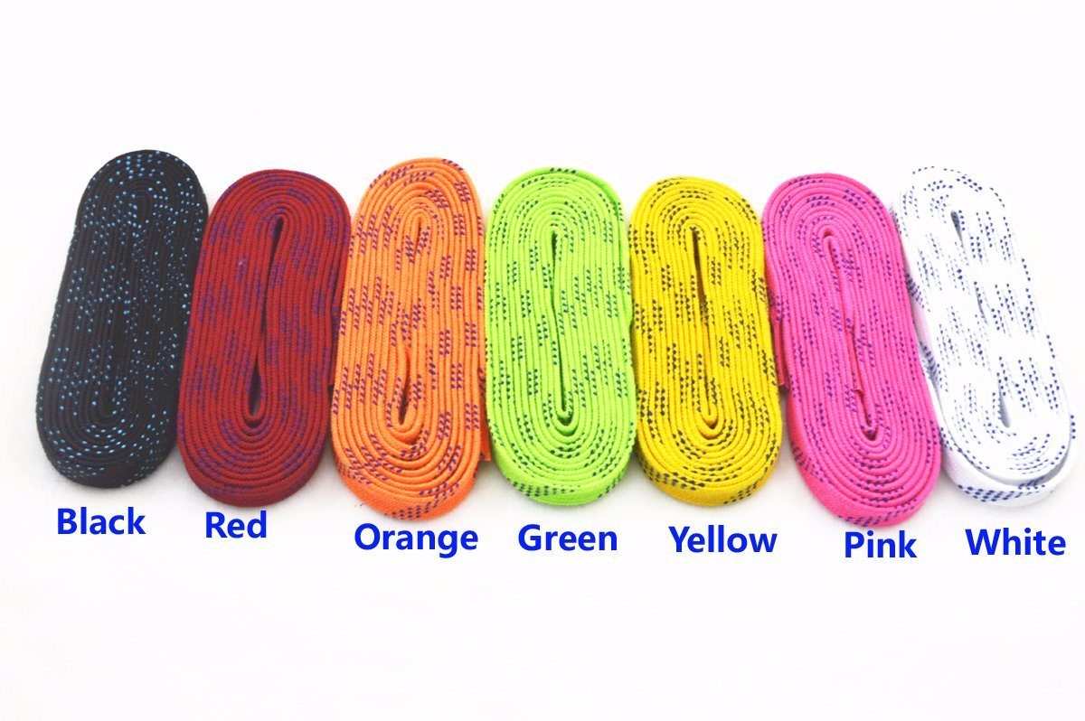 Derby Laces Lime Green 96 Inch Waxed Skate Lace for Roller Derby and Boots Hockey and Ice Skates