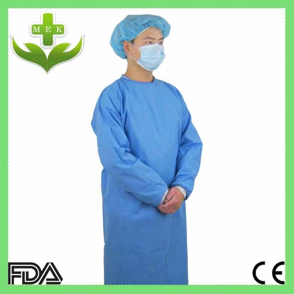 China Blue, Green, White, Pink Disposable Isolation Gown ...