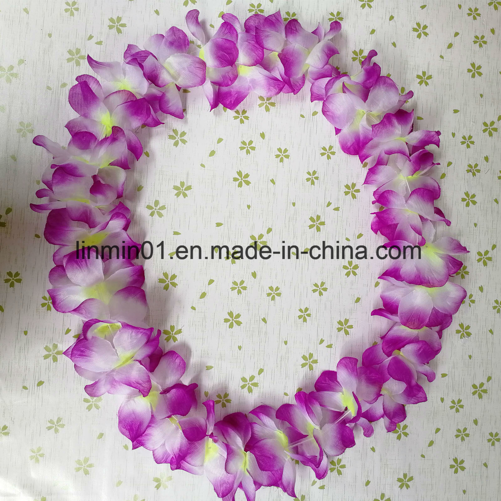 China Custom Party Supplies Artificial Hawaii Necklace Flower Lei