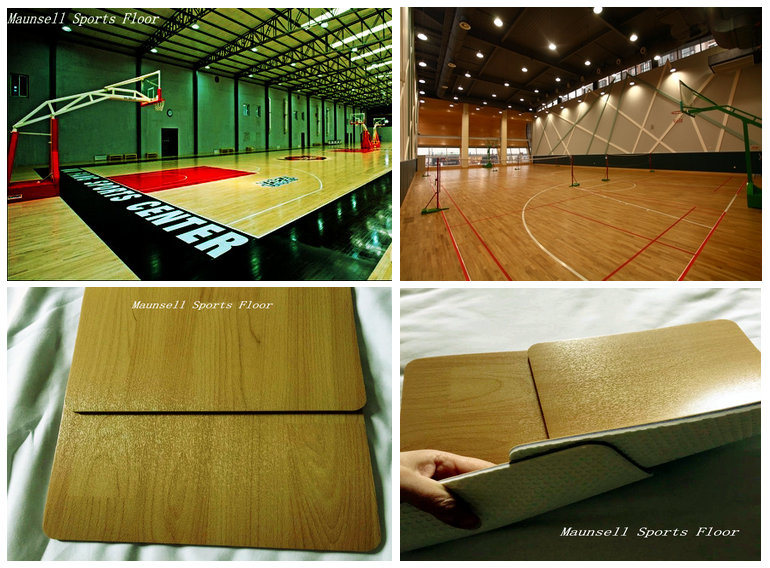Outdoor Indoor PVC Materials Floor For Baskestball Court Made In China