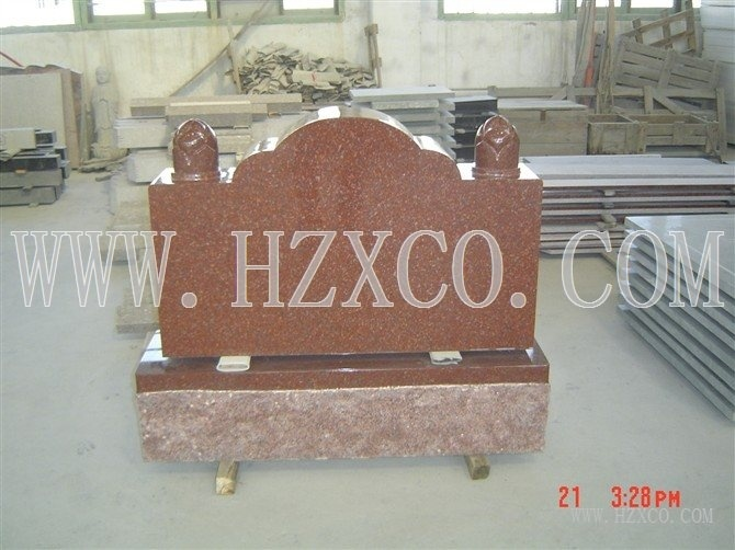 Red Granite Gravestone Headstone Amerial Styles pictures & photos