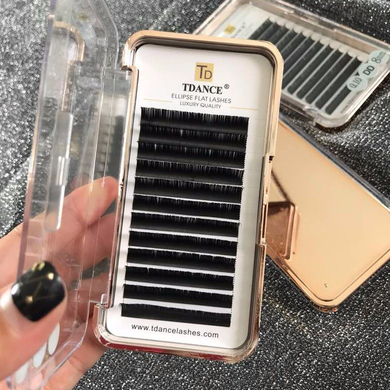 d996161c671 China Eyelash Extension Supplies Real Soft Faux Mink Lash Glossy or High  Quality Matte Ellipse Flat False Eyelash Extensions - China Flat Lashes, ...