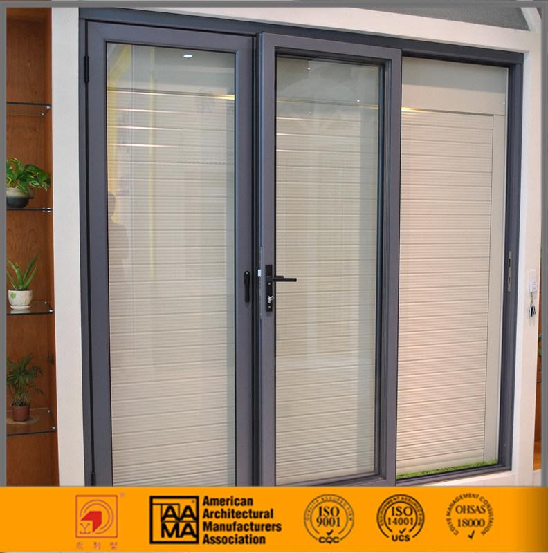 China Double Glazed Exterior Sliding Glassaluminum Door Photos