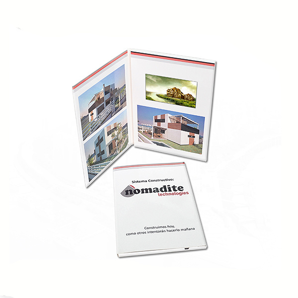 Custom LCD Video Brochure Card for Advertising