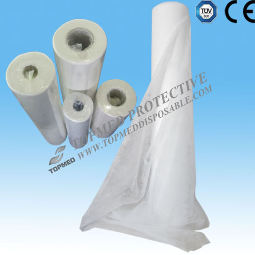 Disposable Bed Sheet Roll, Nonwoven Paper Disposable Bed Sheet in Roll pictures & photos