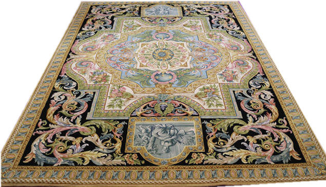 Hot Item Hand Knotted Carpet 9 5x12 3 120 Line Royal Savonnerie Rug For Home Decoration