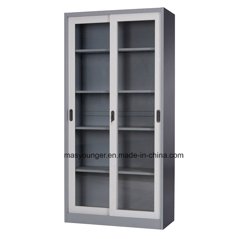 China Durable Sliding Glass Door Steel Office File Cabinet