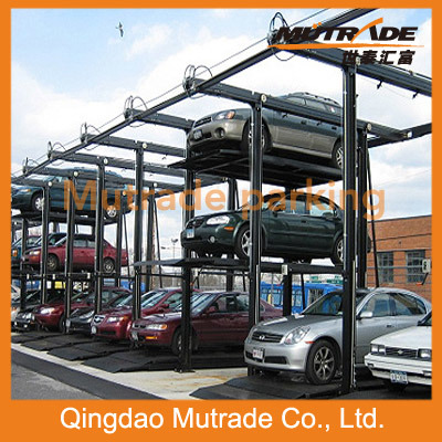 Portable Parking Garage >> China Four Post Stacker Parking Hydraulic Portable Garage
