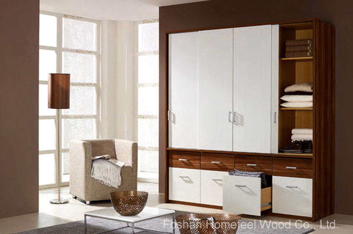 china functional design sliding doors drawers wardrobe closet hf