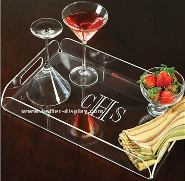 Wholesale Acrylic Tray Plastic Serving Tray for Food