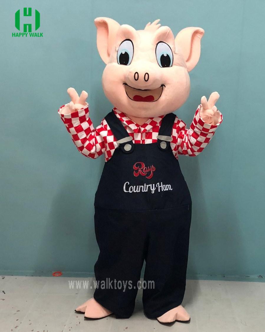China Pink Pig Cartoon Mascot Costume Animal Adult China Mascot Costume And Costume Price