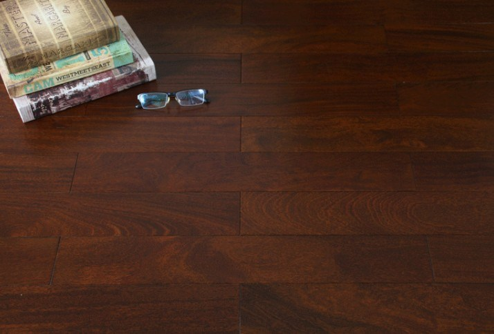[Hot Item] Dark Walnut Stained Okan Hardwood Flooring