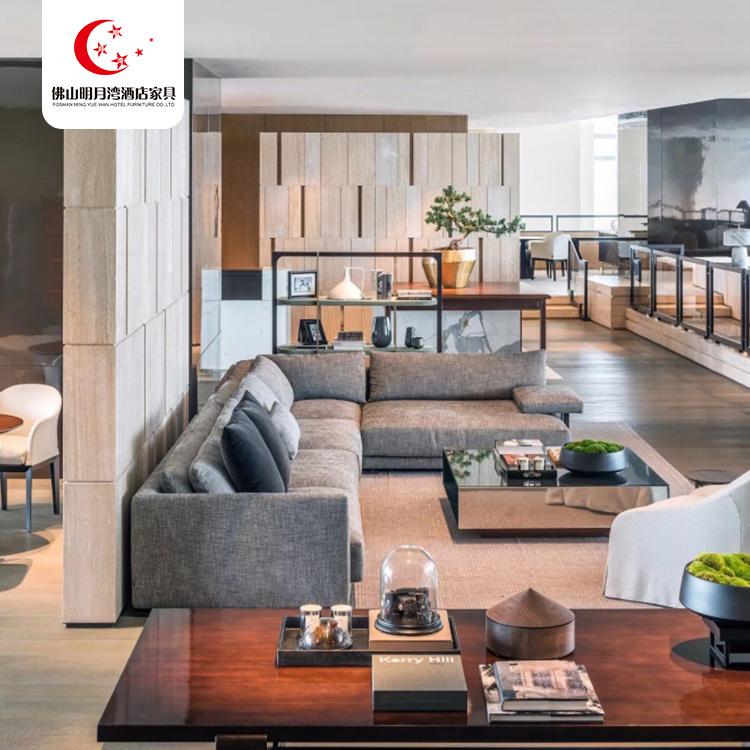 China High End Villa Hotel Furniture High Back Sofas Living