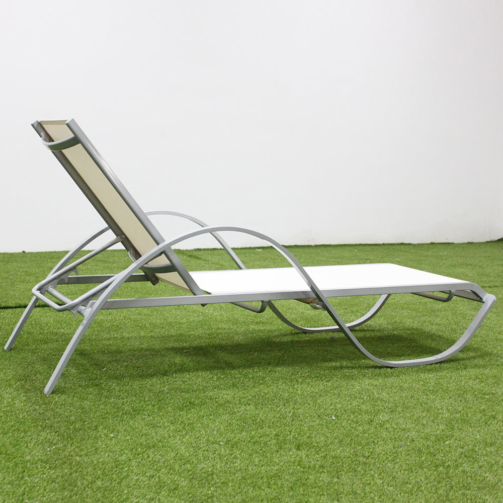China Garden Daybed Outdoor Furniture S Shape Aluminum Sun Lounger