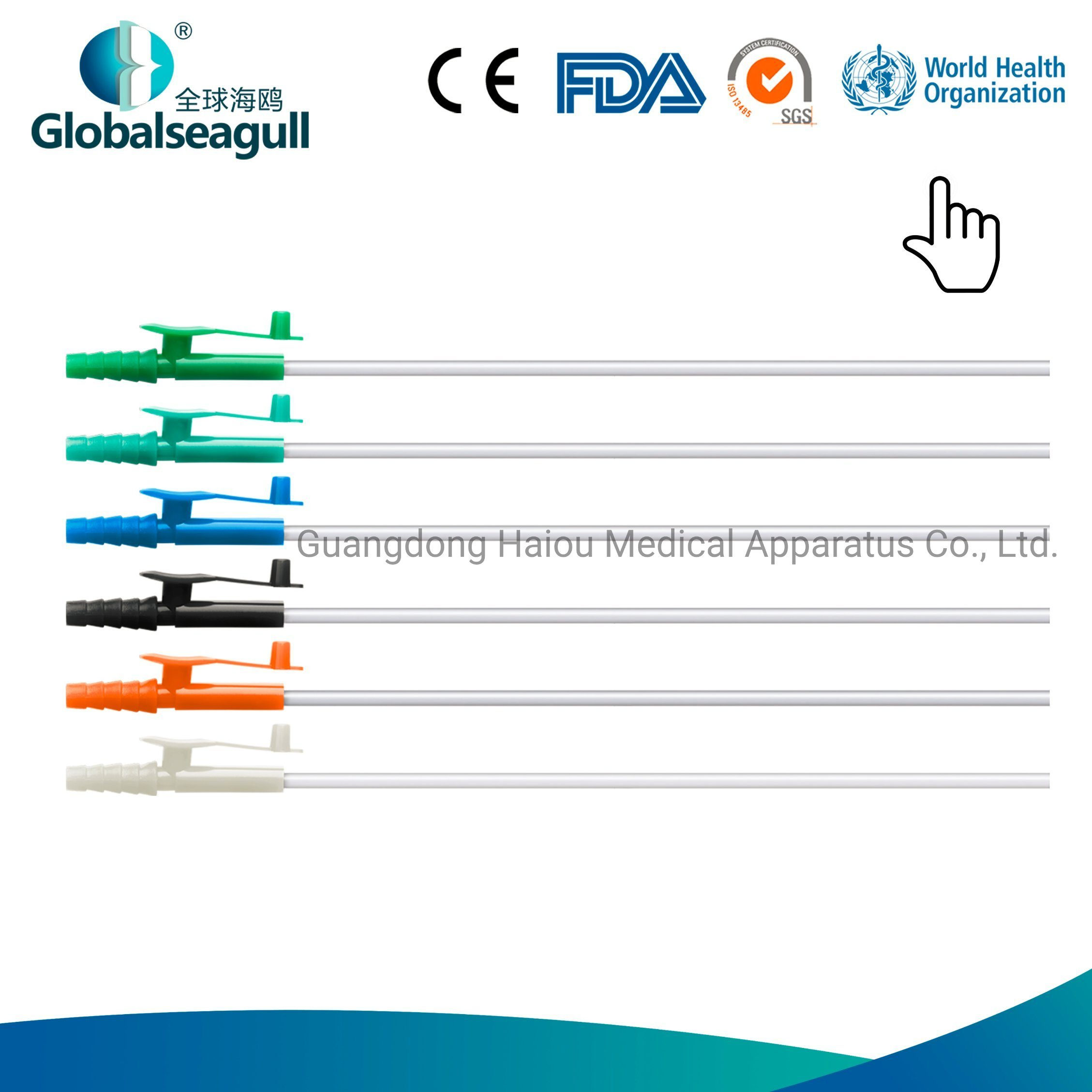 Hot Item Medical Disposable Pvc Suction Catheter Colour Coded Connector