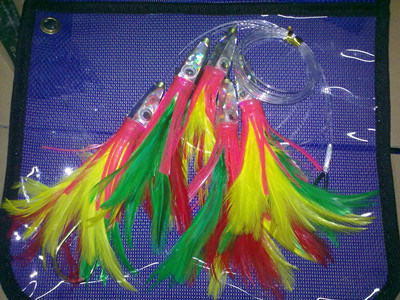 Resin Head Feather Fishing Lure Big Game Lure