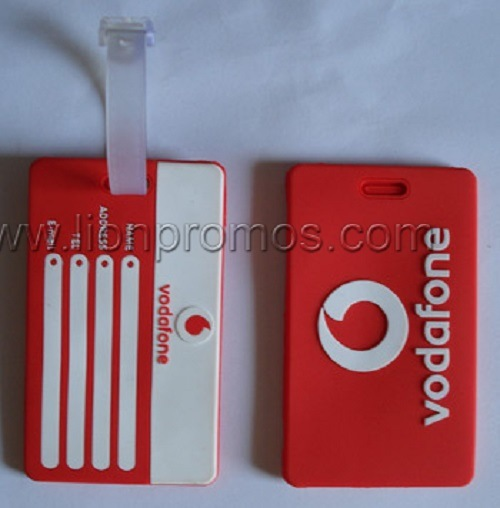 Vodafone Logo Tourism Souvenir Promotional Gift Custom Soft PVC Luggage Tag pictures & photos