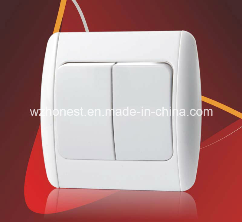 China Electrical Switches for European Turkey Wall Switch Two Gang ...