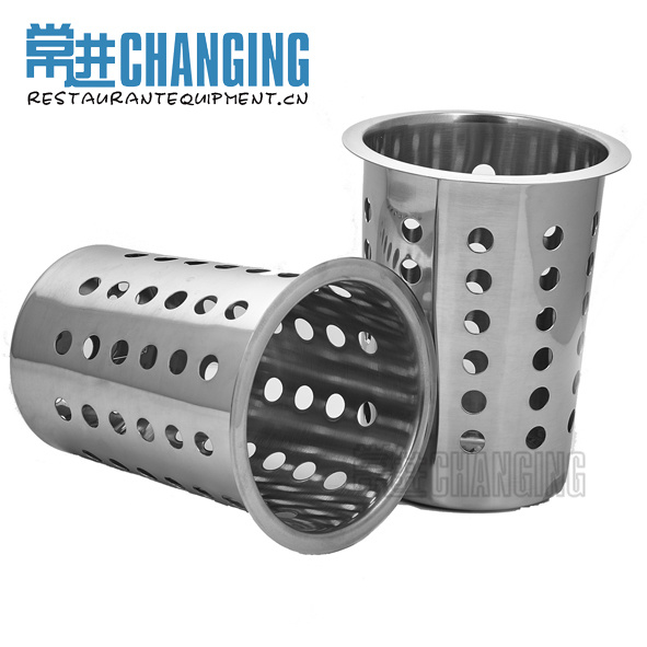 China Stainless Steel Flatware Cylinder Cutlery Holder