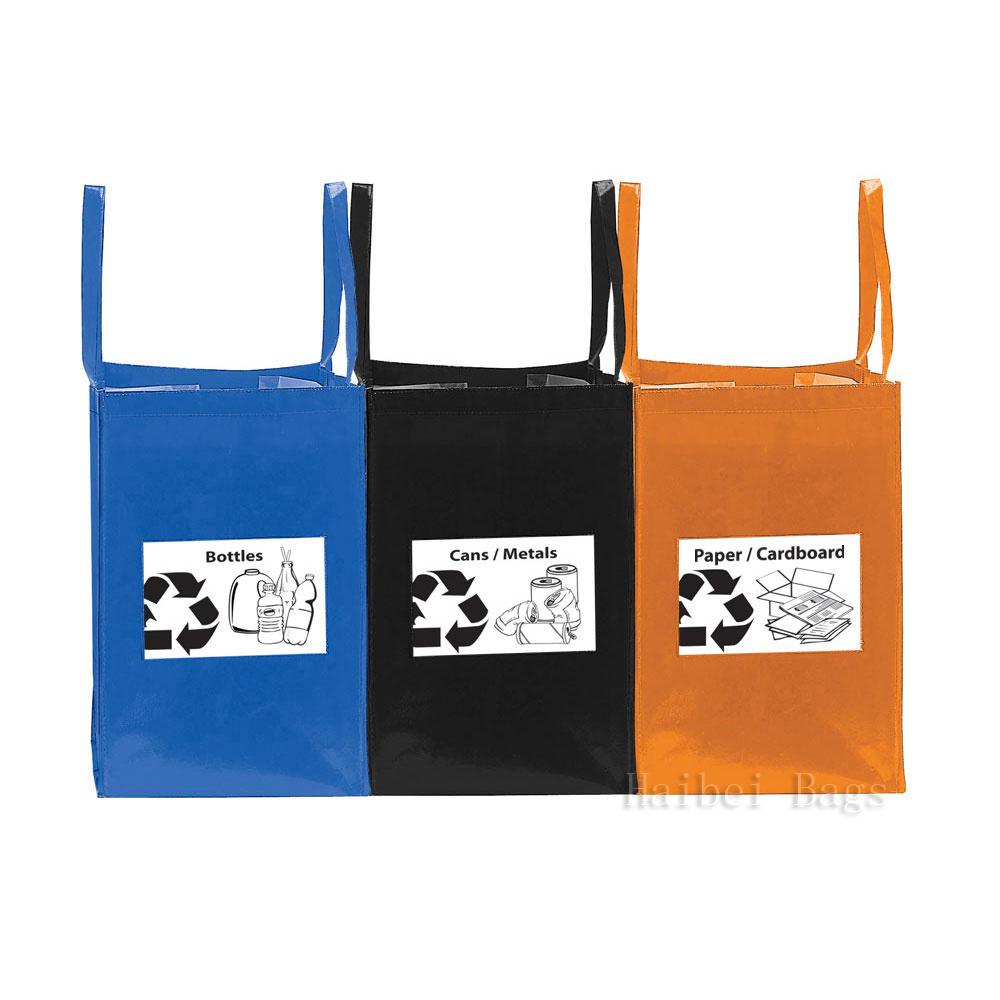 China Pp Folding Recycling Bags Set Of