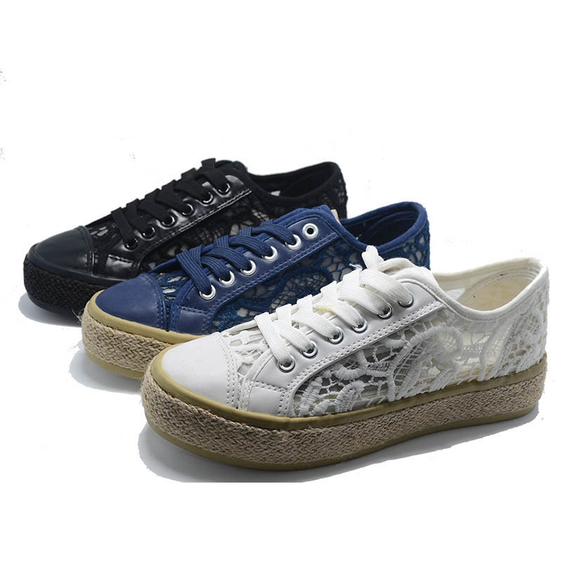Twine Espadrilles Lace Casual Women Men School Ladies Elevator Shoes