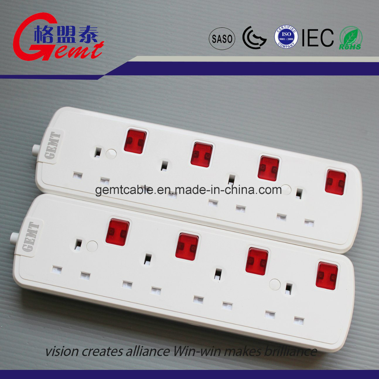 China UK Standard Extention Socket Outlet Power Strip with 2 USB ...