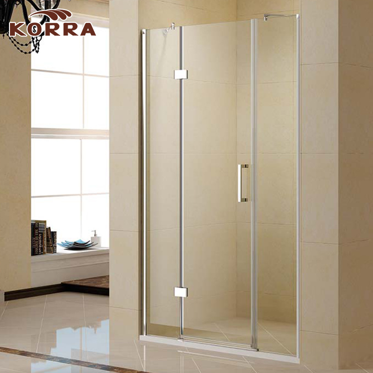 China Por Shower Room With Hinged Door And Fixed Gl Panel