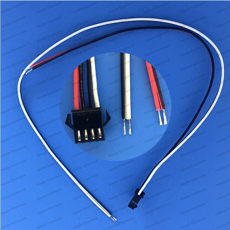 China 2.5mm Sm 4-Pin Female Connector Plug Extension Wire, Tail ...
