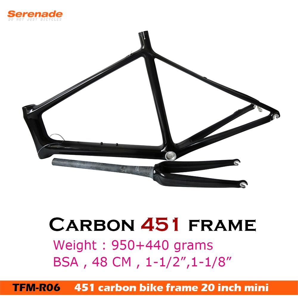 China 20inch Carbon Frame - 451 Carbon Bike Frame in 3K Matt - China ...