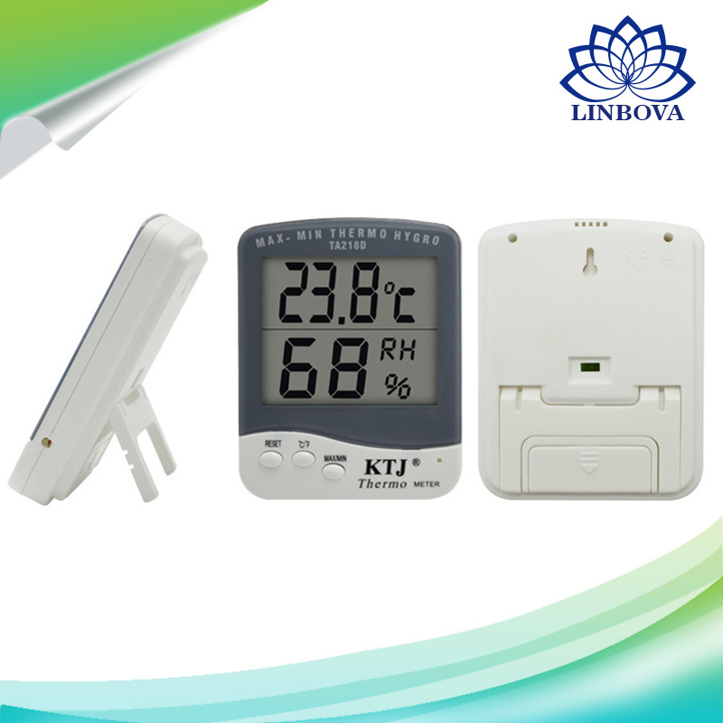 Digital Indoor Max Min Thermometer and Hygrometer with Clock pictures & photos